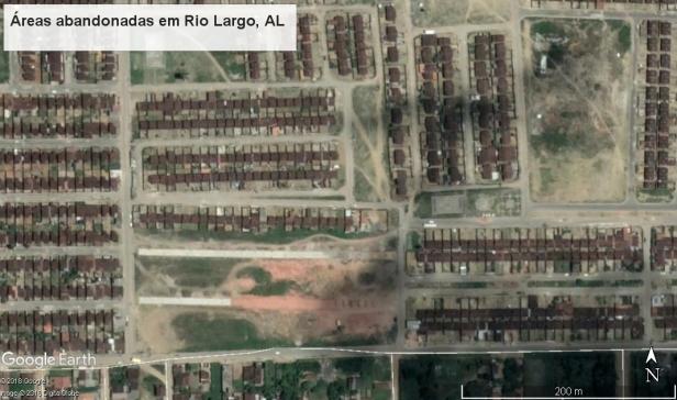 Áreas abandonadas e degradadas em Rio Largo AL